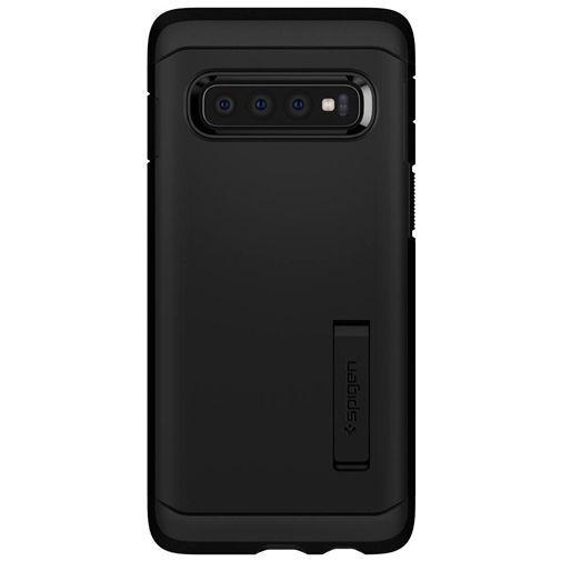 Produktimage des Spigen Tough Armor Hülle Schwarz Samsung Galaxy S10+