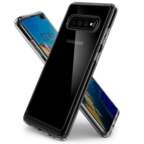 Produktimage des Spigen Ultra Hybrid Hülle Transparent Samsung Galaxy S10+