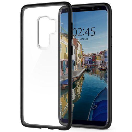 Productafbeelding van de Spigen Ultra Hybrid Case Matt Black Samsung Galaxy S9+