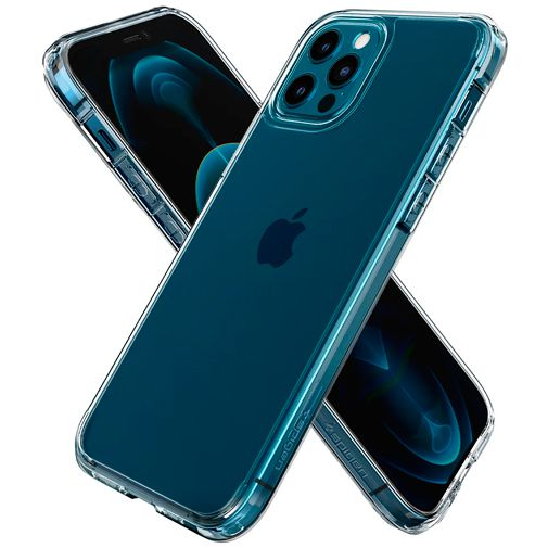 Productafbeelding van de Spigen Ultra Hybrid Kunststof Back Cover Apple iPhone 12/12 Pro Transparant