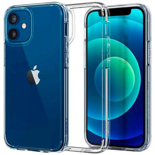 Productafbeelding van de Spigen Ultra Hybrid Kunststof Back Cover Apple iPhone 12 Mini Transparant