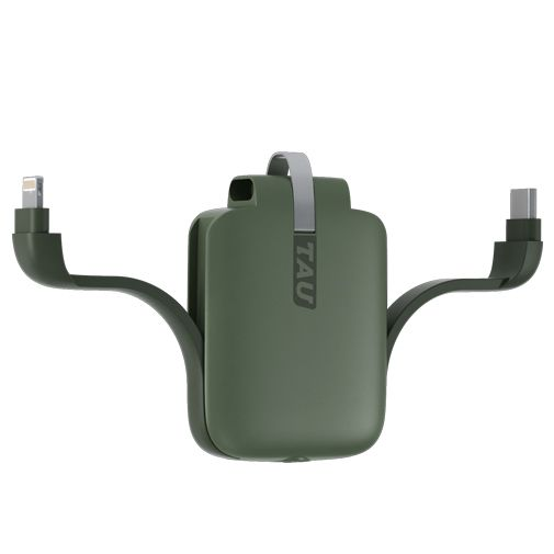 Productafbeelding van de TAU Mini Powerbank 1400mAh Groen