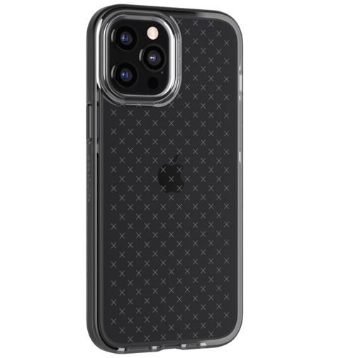Productafbeelding van de Tech21 Evo Check TPU Back Cover Apple iPhone 12 Pro Max Zwart