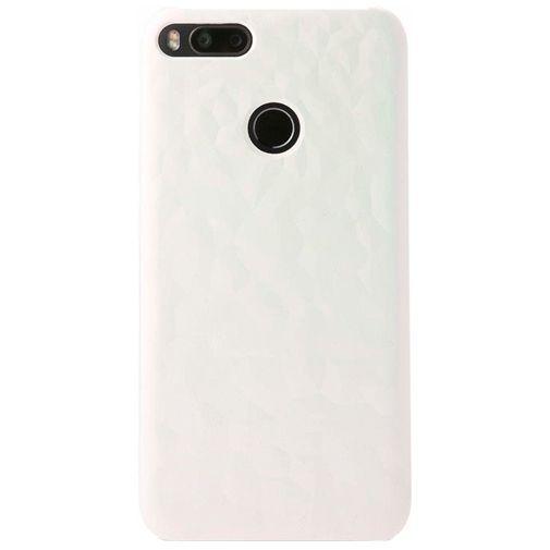Produktimage des Xiaomi Textured Hard Case Weiß/Pink Mi A1