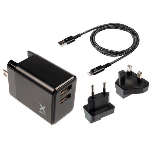 Productafbeelding van de Xtorm Volt Dual USB Oplader + Lightning-kabel Black