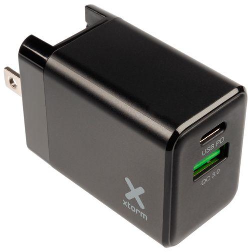 Productafbeelding van de Xtorm Volt Snellader USB + USB-C 18W Black