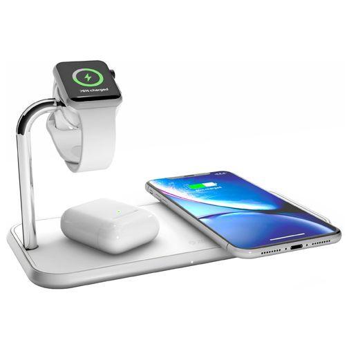 Productafbeelding van de Zens Draadloze Snellader 10W + Apple Watch Stand White
