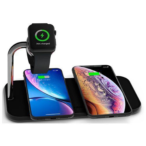 Produktimage des Zens Wireless Quick Charger 10W + Apple Watch Stand Schwarz