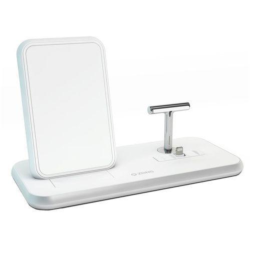 Productafbeelding van de Zens Draadloze Snellader Stand 10W + AirPods Dock White