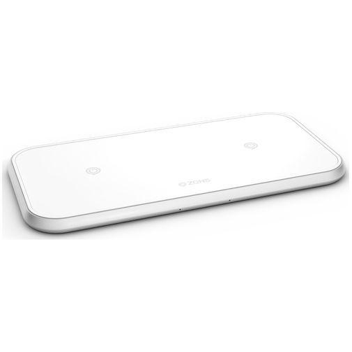 Productafbeelding van de Zens Dual Aluminium Draadloze Snellader 10W White